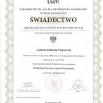 Świadectwo ukończenia studiów podyplomowych dla tłumaczy języka rosyjskiego
