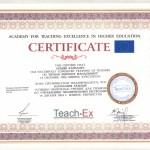 Certyfikat odbycia szkolenia dla trenerów w zakresie zarządzania zasobami ludzkimi